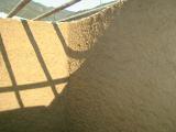 備長窯瓦積み内部側壁赤土塗り